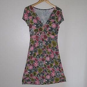 Boden dress floral viscose stretchy size 10 R